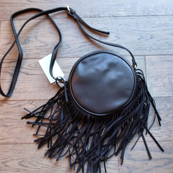 Deux Lux Handbags - DEUX LUX Fringe Joplin Crossbody Bag Dark Gray